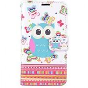 Eagle Cell Flip Wallet Case for LG Tribute 5 LS675/LG K7 - Retail Packaging - Butterflies/Owl