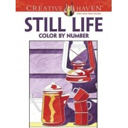 Creative Haven Still Life Color by Number Coloring Book by Diego Pereira