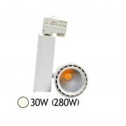 Vision-EL Spot Led 30W (280W) orientable Blanc neutre 4000°K pour rail Alu blanc