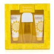 Sunflowers Coffret: Eau De Toilette Spray 100ml/3.3oz + Body Lotion 100ml/3.3oz + Hydrating Cream Cleanser 100ml/3.3oz 3pcs Sunflowers Set: Apă de Toaletă Spray 100ml/3.3oz + Loțiune de Corp 100ml/3.3oz + Gel Hidratant Cremos 100ml/3.3oz