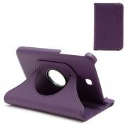 Bolsa Rotativa em Pele para Samsung Galaxy Tab 3 7.0, P3200, P3210 - Roxo