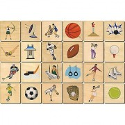 Sports Memory Tiles - Made in USA