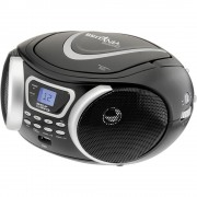 RÁDIO PORTÁTIL CD PLAYER BRITÂNIA MP3, Display LDC, 3.4W