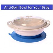 Anti-Spill Table Sucking Bowlwith Lid - Prevents the Baby from Spilling Food While Eating