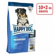 Happy Dog: Supreme Medium Baby, 10kg+2kg GRATIS