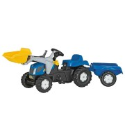 Tractor Cu Pedale Si Remorca Copii ROLLY TOYS 023929 Blue