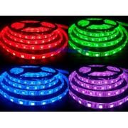 RGB LED pásik Vodeodolný, SMD 5050, 300 LED, 12V