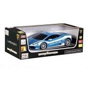 Maisto - 2049697 - Voiture Miniature Radiocommandé - Lamborghini Huracan Lp 610-4 Polizei - Bleu - Echelle 1/14