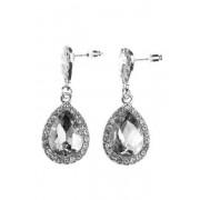 BUBBLEROOM Drops crystal earring Silver .