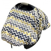 Sprout Shell Sprout Shell 4-in1 Baby Infant Car Seat Cover with Pocket Golden Mountains