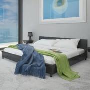 vidaXL Säng 180 x 200 cm Svart konstläder med madrass
