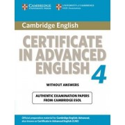 Cambridge Certificate in Advanced English 4 for Updated Exam Student's Book without Answers by Cambridge ESOL