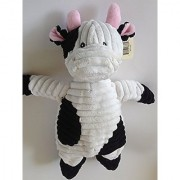 Kordy Jr. Stuffed Plush Black and White Cow by Unipak - 12''