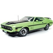 1971 Ford Mustang Mach 1 429 Ram Air Grabber Lime With Green Interior Limited Edition 1/18 By Autoworld Amm1069
