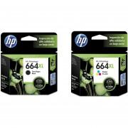Combo Cartucho HP 664XL-Negro + HP 664XL-Tricolor