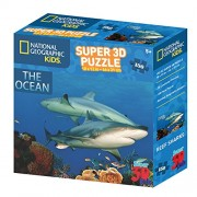National Geographic ng10800 Enfant Super The Ocean Reef Sharks 3D (Puzzle Maxi 150 pièces)
