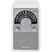 Bluetooth fa dobozos asztali rádió bőr bevonattal Sangean WR-15 BT fehér
