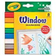 Crayola - Set Carioci 8 Culori pentru Sticla