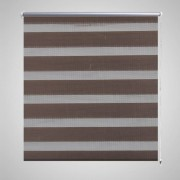 vidaXL Roleta Zebra / noc a den Twinroll 80 x 175 cm, kávová