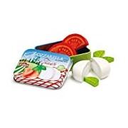 Erzi Pretend Play Wooden Grocery Shop Merchandize Mozzarella and Tomato in a Tin