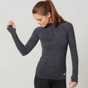 Myprotein T-shirt zippé femmes manches longues - XL - Green/Blue