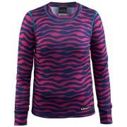 Craft Mix and Match Maglietta ciclismo Bambini rosa/blu Magliette a maniche lunghe