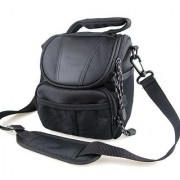 co2Crea(TM) Black Soft Nylon Digital Camera Case Bag Cover Pouch for Nikon Coolpix 1 J5 J4 V3 P900 P610 P600 P520 L830 L