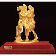 """Ръчно изработена статуетка с 22 карата златно покритие """"Трите грации"""" (A050)"""