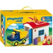 Playmobil 1.2.3 LKW mit Sortiergarage (6759)