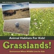 Grasslands! - Animal Habitats for Kids! Environment Where Wildlife Lives for Kids - Children's Environment Books by Baby Iq Builder Books