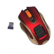 Kowellshine T008 New Version Solar Wireless Mouse Plus Solar Energy Powered Mouse---Red