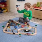 Trenulet din lemn Bucket Top Mountain cu set de accesorii - Kidkraft