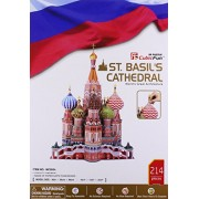 St Basil's Cathedral 3D Puzzle W/Book