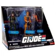 G.I. JOE Exclusive G.I. Joe Sea Command Action Figure 3-Pack (Deep Six Lt. Torpedo and G.I. Joe Cutter)
