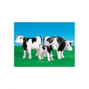Playmobil Black And White Cows With Calf