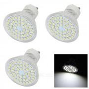 GU10 lamparas 4W LED Luz Blanca Fria 48-SMD - Blanco + Beige (3PCS)