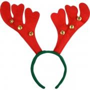 Coronita ren verde cu cornite rosii si clopotei