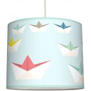 anna wand Lampenschirm Papierschiffchen Blau (Ø 40 cm)