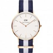 Daniel Wellington 0104DW - Reloj con correa de acero para hombre, color blanco / gris
