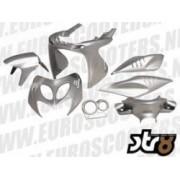 Kappenset 7 delig Yamaha Aerox Kleur: Zilver Metallic