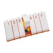 City caixa de medicação semanal de 1 toma diária cores sortidas - Pilbox