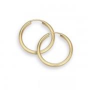 """14K Gold Hoop Earrings - 9/16"""" diameter (2mm thick)"""