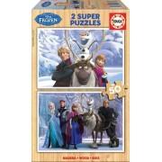 EDUCA 16163 Puzzle din lemn Frozen 2*50 bucăţi