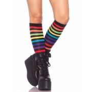 Vegaoo Kniestrümpfe Regenbogenfarben