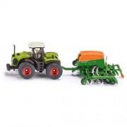 SIKU Zabawka SIKU Traktor Claas 5000 Xerion Z Siewnikiem Amazone