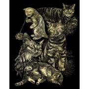 Immagini Scratch - Schermo Zero - Scraper Cat Montage - Gatto - Gatti - taglia Oro 20 cm x 25 cm completo