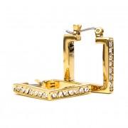 Trixie Swarovski kristályos négyzet alakú fülbevaló - Arany színű