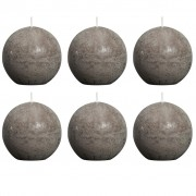 Bolsius Ball Rustic Candle Taupe 80mm 6 pcs Set