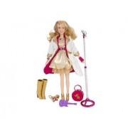 "Hannah Montana Holiday 2009 Special Edition 11""Singing Pop Star doll gold dress"