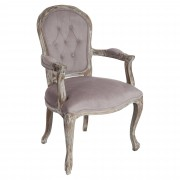 Fauteuil taupe 53x64x98cm